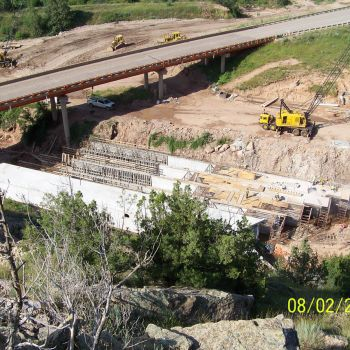 Highway 18 Cast-In-Place Box Culvert Construction (Hot Springs, SD)